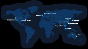 Map of BGI global locations